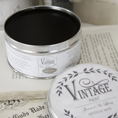 Vintage voks. Stor Lysebrun 370 ml