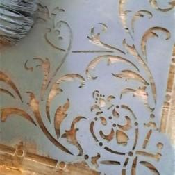Skabelon / Stencil. Hjørne blomst