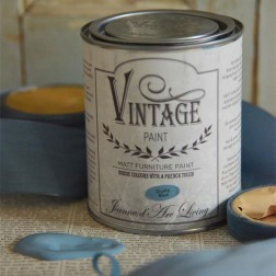 Vintage Paint. Blue Dusty