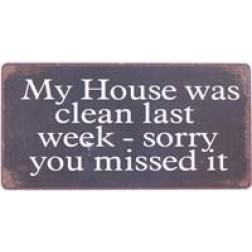 Magnet med tekst. My house...