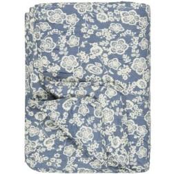 Quilt blå m/blomster