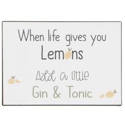 Emaljeskilt.  When life gives you lemons