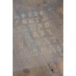 Skabelon / Stencil - Alfabet