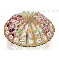 Italiensk nougat lagkage med frugt. 165 g