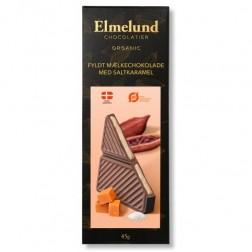Elmelund Bar. Fyldt Mælkechokolade med Saltkaramel