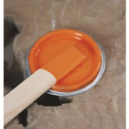 Vintage Paint. Bright Orange