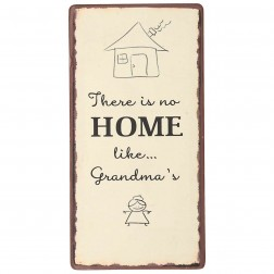 Magnet med tekst. There is no home like Grandma's